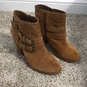 Gianni Bini Tan Suede Ankle Boots